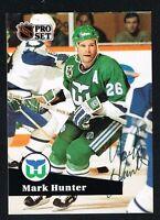 Mark Hunter #390 signed autograph auto 1991-92 Pro Set Hockey Trading Card