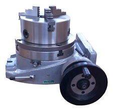 "The adapter and 3 jaw chuck for mounting on a 10"" rotary table"