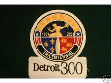 DETROIT 300 TRICENTENNIAL PATCH 1701-2001