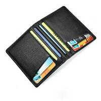 Men's Genuine Leather Pocket Wallet Soft Slim Case Mini ID Credit Card Holder