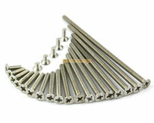 80 Pcs M3 x 50mm 304 Stainless Steel Phillips Countersunk Head Machine Screw