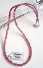facettierte rote Spinell Kette, 55 Karat - 45 cm - 925er Silber Schloss - Rot