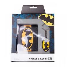 Official DC Comics Batman - Classic Logo - Boxed Bifold Wallet & Key Chain