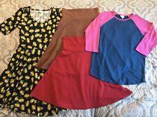 LulaRoe Womens Size Large Shirt Dress Skirt Lot