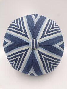 Pottery Barn Melilla Ball Indoor Outdoor Pillow Blue Striped #8000B