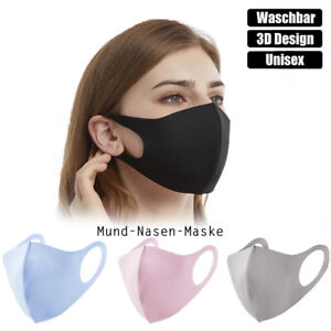 3D Mund-Nasen-Maske Gesichtsmaske waschbar wiederverwendbar Behelfsmaske Unisex