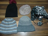 Winter Hats X5 Outerwear Bundle Mens Womens Warm Autumn Winter One Size
