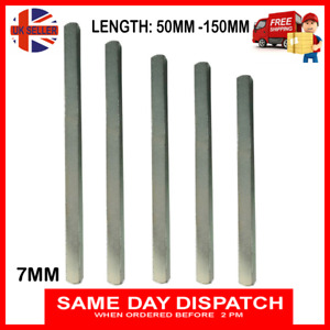 7mm Door Spindle Plain Bar Replacement for Handles and UPVC Window