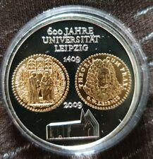10 Euro Deutschland 2009 - 925er Silber mit Gold - 600 Jahre UNIVERSITÄT LEIPZIG