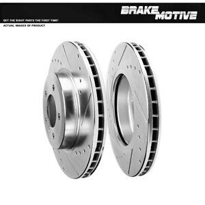 For 2000 2001 - 2007 BMW 330 E46 2006 - 2008 Z4 FRONT Drill Slot BRAKE Rotors