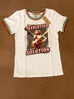 Bob Marley Women's ''Revolution'' White T-Shirt Size XS FREE SHIPPING