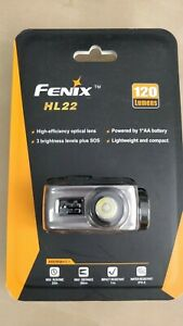Fenix HL22 120 Lumens - Iron Grey - LED Headlamp - 1x AA
