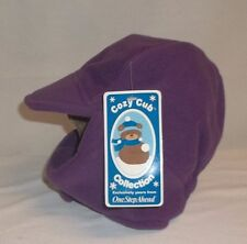 One Step Ahead Purple Fleece Winter Hat Adhesive Closure 24mo-4T BRAND NEW!