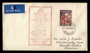 DR WHO 1948 BERMUDA FDC FIRST FLIGHT TRANS-CANADA AIRLINES ST GEORGES C244318