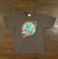 Vintage 90s QUAKER STATE AND LUBE Grey Planet Gildan T-Shirt Large