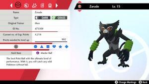Non Shiny 6IV Level 15 Jolly Zarude FROM Pokémon Go FOR Pokemon Sword/Shield
