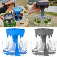 6 Shot Glass Dispenser Holder Drinking Gaming Shot Glasses Get Party Set