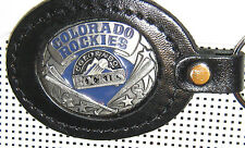 LICENSED LEATHER KEY CHAIN TEAM LOGO COLORADO ROCKIES  GO ROCKIES