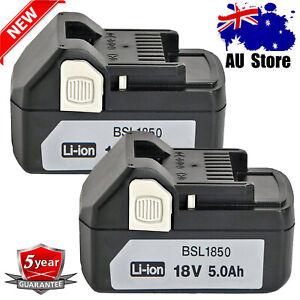 2X For Hitachi BSL1860 18V 5.0Ah Li-ion Battery BSL1850 BSL1840 BSL1830 BSL1815S
