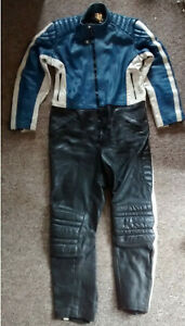 leather   ONE-PIECE MOTORCYCLE SUIT         made by EAGLE  44 inch chest