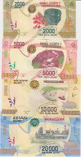 Madagascar Nouveauté 4 Billets 2000, 5000, 10000,20000 Ariary 2017 UNC/Neuf P.NE