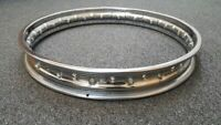 "STAINLESS STEEL WHEEL RIM 19"" 40 HOLE ROYAL ENFIELD NORTON MATCHLESS AJS TRIUMPH"