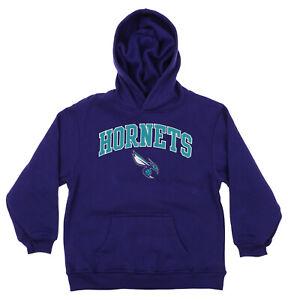OuterStuff NBA Youth Charlotte Hornets Fleece Pullover Hoodie, Purple