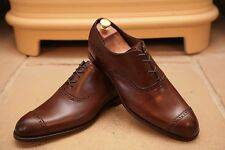 Barker Black Men's Made In England Brown Leather Brogue Shoes UK 8.5