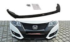 CUP Spoilerlippe für Honda Civic MK9 Facelift Bj. 14-17 Front Schwert Ansatz