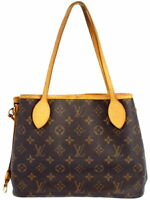 LOUIS VUITTON M40155 Neverfull PM Shoulder Tote Hand Bag Monogram Canvas Used