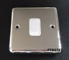 DETA LIGHT SWITCH 1 Gang 2 Way 10Amp POLISHED CHROME WITH WHITE INSERTS 1903CHW