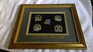 Vintage Disney Limited Edition Pin Set, 5 Pins Walt Disney World Theme Parks