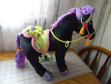 Groovy Girls Midnight Star Black Velvet Horse W/ Sound! Plush Stuffed Toy Pony