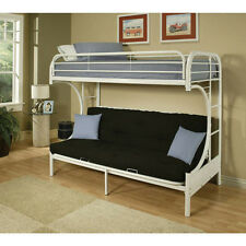Eclipse Twin Over Full Futon Bunk Bed White Mattress Full Futon not included