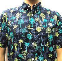 New Trunks Hawaiian Shirt Mens Medium Tropical Palm Tree Graphics NWT