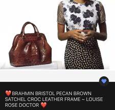Brahmin Bristol Pecan Melbourne Satchel Leather Frame Doctor's Bag (No Strap)