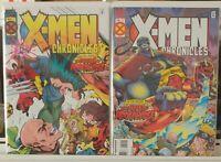 X-Men Chronicles 1 2 Complete Set Series Run Lot 1-2 VF/NM