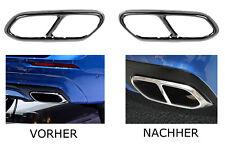 2x Chrom Edelstahl Auspuffblende Auspuff Abdeckung Volvo XC60 SPA ab BJ 2017 A8