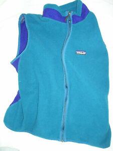 Patagonia Teal Blue Purple Fleece Vest-XL