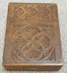 Playing Card Box Antique Vintage Wooden Box Case