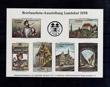 V97) Landshut speciale uitgave Briefmarken Ausstellung kleine oplage