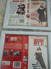 Whoopi Goldberg Sister act 1 & 2 vhs sleeve Framed Poster B Movies Photo Dvd