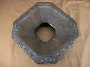 Antique Chicago COOK COUNTY CRIMINAL COURTS Brass/Bronze Spittoon Cover c 1920's