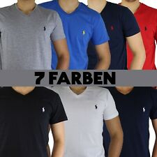 Ralph Lauren Herren T-Shirt V-Neck Ausschnitt Kurzarm Regular Fit S - XXL