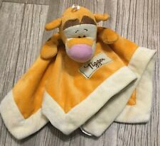 Kids Line Disney Security Baby Blanket Lovey Tigger Soft Brown Yellow GUC H5