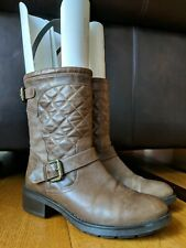 AQUATALIA Sweetness Womens Brown Leather Quilted Mid Calf Boots Booties SIZE 5