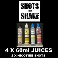 flavoured vape juice 4 x 60ml sub ohm vaping liquid lots of flavours
