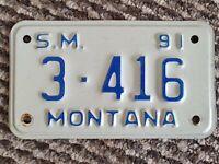 Vintage 1990s USA Montana Licence Plate