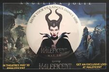 rArE Disney Angelina Jolie MALEFICIENT Movie Promo Badge Pin NEW