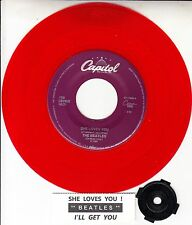 """BEATLES  She Loves You & I'll Get You RED VINYL RARE! 45 rpm 7"""" BRAND NEW record"""